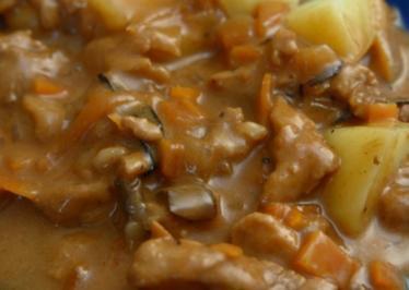 Schweinegeschnetzeltes ganz einfach und mit Pilze wa - Rezept