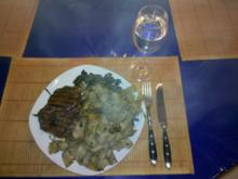 Fleisch: Mariniertes Schnitzel mit Steinpilznudeln - Rezept
