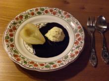 Birne Helene mit Sauce au chocolat legere - Rezept