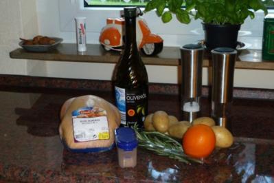 Hähnchen aus dem Backofen - Rezept