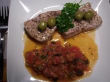 Tunfischsteaks Saverio`s Art - Rezept