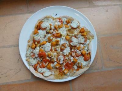 Pizza-Kürbis_Gorgonzola - Rezept