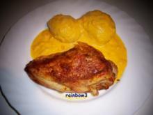Kochen: Hähnchenbrust aus dem Backofen mit einer Möhren-Sahne-Sauce - Rezept