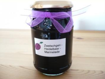Zwetschgen - Heidelbeer - Marmelade - Rezept
