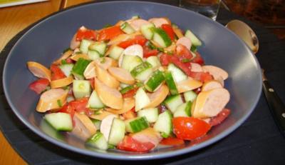 Würstchen-Salat - Rezept