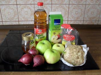 Apfel-Chutney mit Zwiebeln und Sellerie - Rezept