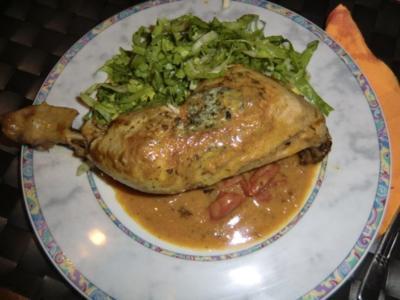 Curry-Hähnchenschenkel mit Endiviensalat - Rezept