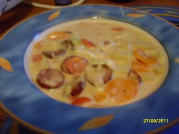 Cabanossi-Käse-Suppe - Rezept