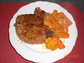 Karottengemüse mit Koteletts - Rezept