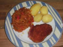 Paprika-Sauerkraut mit Kasslerkotelett - Rezept