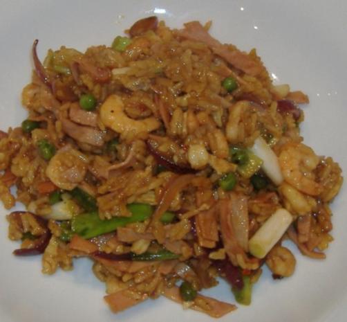 Gebratener Reis auf chinesischer Art - Rezept