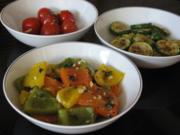 Marinierte Paprika, Zucchini und Tomaten - Rezept