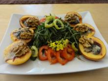 Gorgonzola-Nektarinen-Salätchen - Rezept