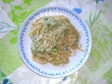 Spaghetti mit Gorgonzola-Broccoli-Soße - Rezept
