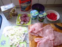 Auflauf mit Putenschnitzel nach griechischer Art - Rezept