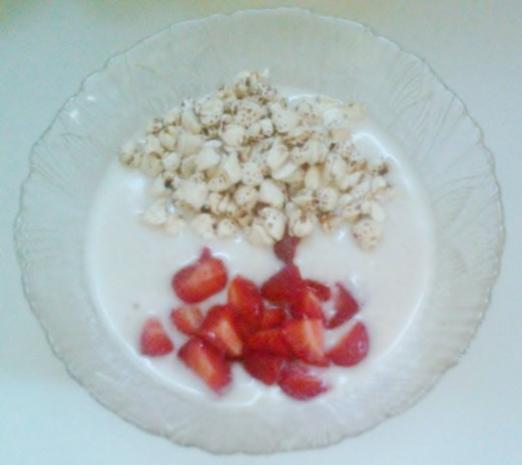 Dessert: Erdbeer-Joghurt - Rezept