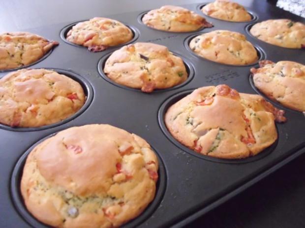 Muffins: Tomate-Mozzarella - Rezept - Bild Nr. 5