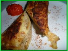 Pfannkuchen-Strudel, scharf - Rezept
