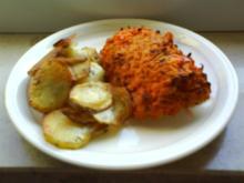 Scholle in rotem Mantel mit Röstkartoffeln - Rezept