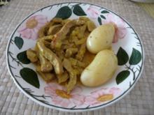 Kalbsfleisch : Indisches Curryfleisch mit Rosmarinkartoffeln - Rezept