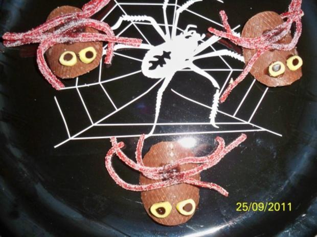 halloween: tückische taranteln - Rezept