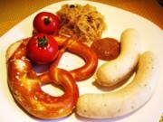 """""""Weißwurst mit Brezn"""" zu Mittag ... - Rezept"""