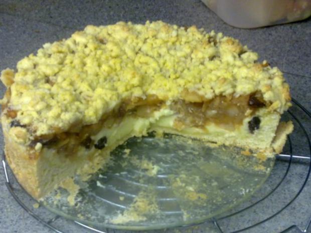 Apfel Pudding Kuchen Mit Streusel Rezept Kochbar De