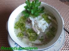 Suppe:     HÜHNERSUPPE mit Reis - Rezept