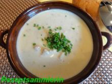 Suppe:     KÄSE-LAUCH - Rezept
