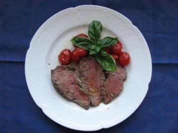 Fleisch: Rinderfilet mit Niedertemperaturmethode gegart - Rezept