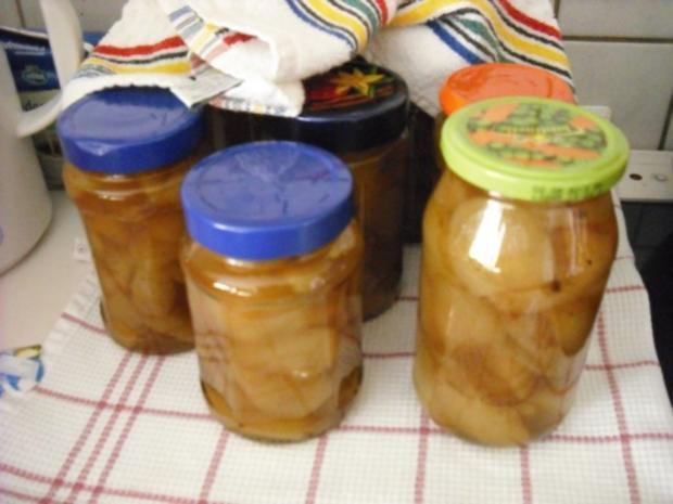 Süsse, eingekochte Birnen - Rezept - Bild Nr. 5