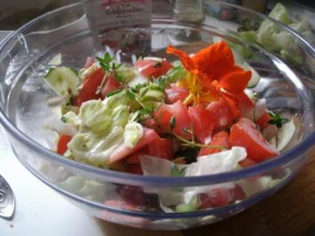 Gemischter Salat mit Zitronenpfeffer - Rezept