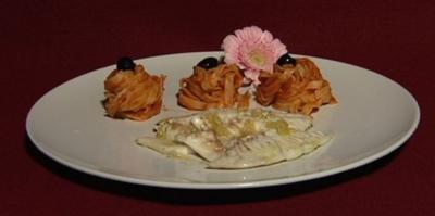 Orata alla Griglia - Dorade vom Grill mit Tagliatelle Arabiata (Dave Kaufmann) - Rezept