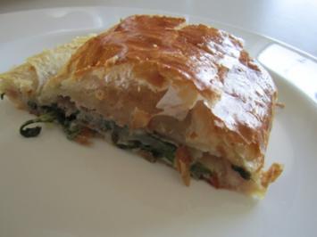 Rezept: Prosciutto-Rucola-Mozzarella-Strudel