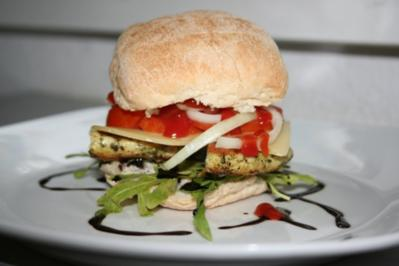 Chickenburger - Rezept