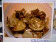 Zucchini mit Champignons - Rezept