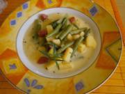 Bohnensüppchen mit Mettwürstchen - Rezept