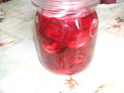 Rote Beete  süß sauer eingelegt - Rezept
