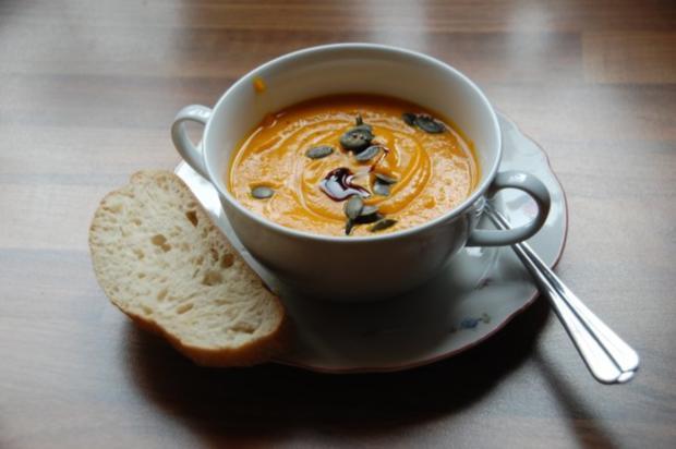 Hokkaido-Kürbis Suppe - Rezept - Bild Nr. 5