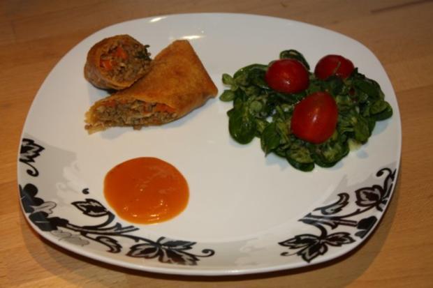 Frühlingsrolle mit Salat - Rezept