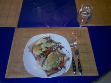 Fleisch: Fleischkäse mit Spiegelei - Rezept
