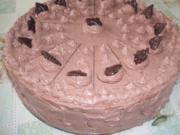 ( Torte )     Birne Helene--  Schoko-Buttercrem-Torte - Rezept