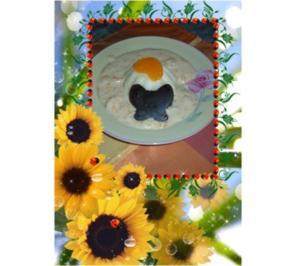 Dessert :  Sahnepudding mit Eierlikör - Mandarinen - Quarksoße - Rezept