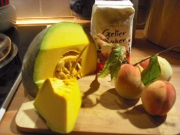 Kürbis-Pfirsich-Marmelade - Rezept