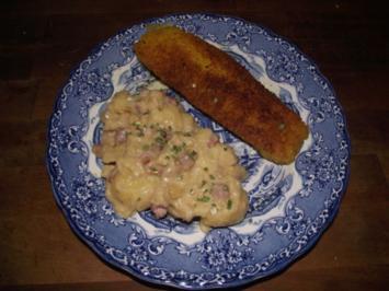 Regionale Küche / Beilagen: W K W - Warmer Kartoffelsalat Waldecker Art - Rezept