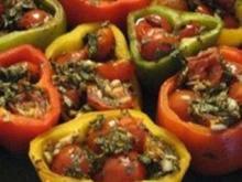 Mit Tomaten gefüllte Paprikaschoten - Rezept