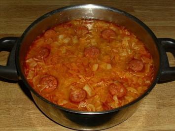 Würzige Krautsuppe - Rezept