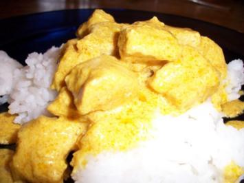 Putengeschnetzeltes Indische Art mit Reis - Rezept
