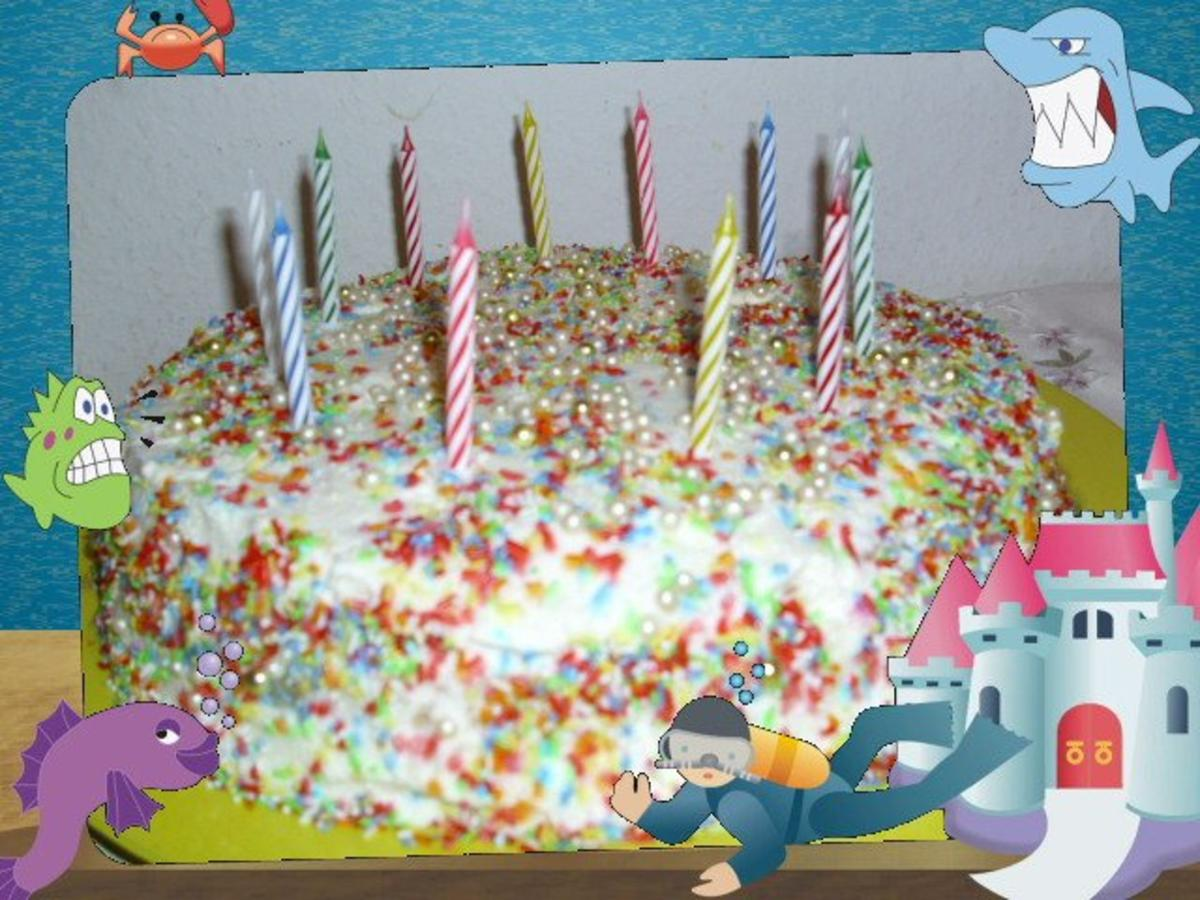 Geburtstagstorte foto
