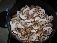 Pilzpfanne in Rahmsoße - Rezept